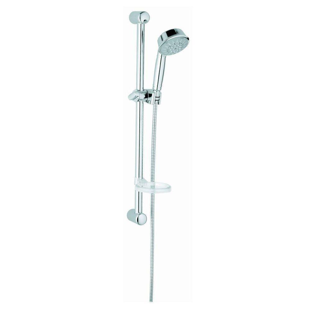 Grohe Relexa Rustic Shower Bar Set In Starlight Chrome