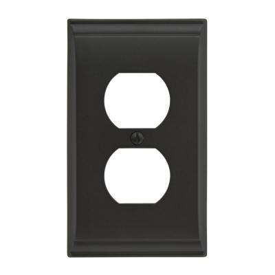 Candler 1 Receptacle Black Bronze Wall Plate