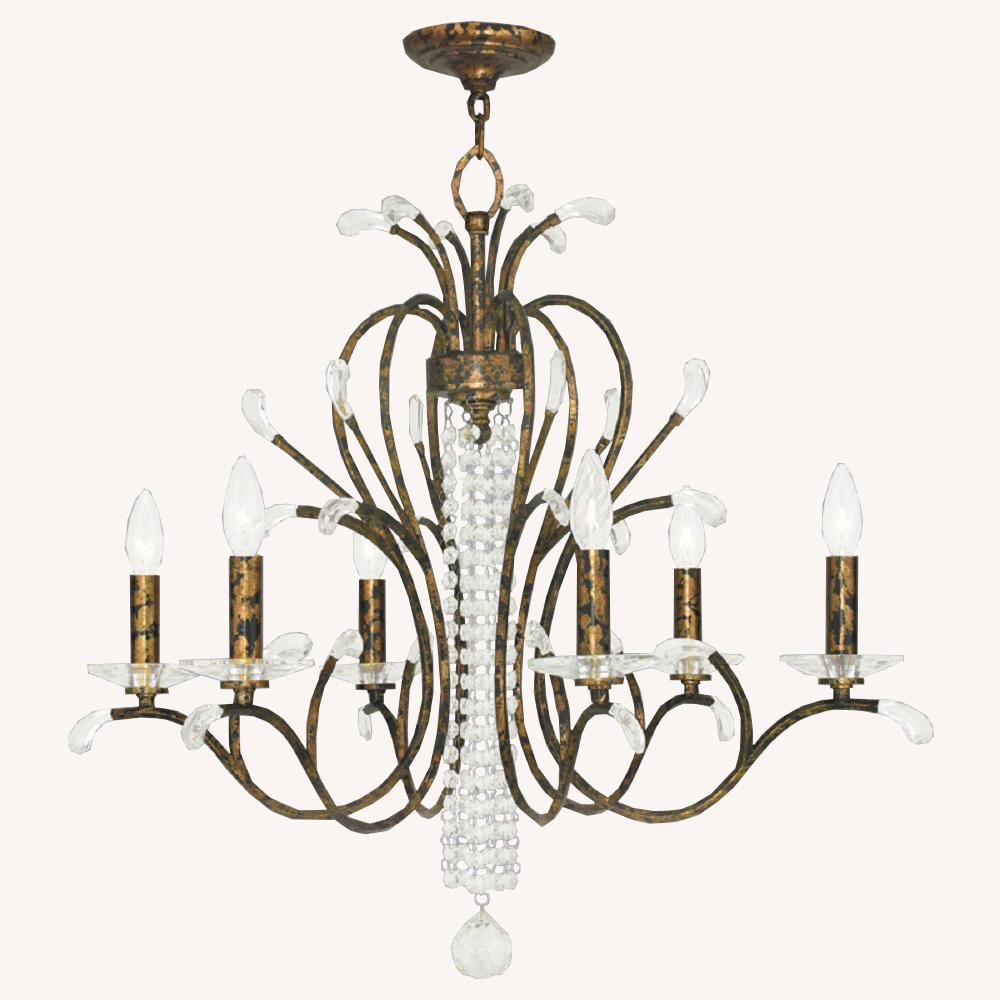 Livex Lighting Serafina 6-Light Venetian Golden Bronze Chandelier