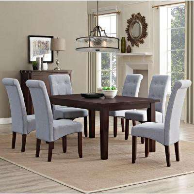 Cosmopolitan 7 Piece Dove Grey Dining Set