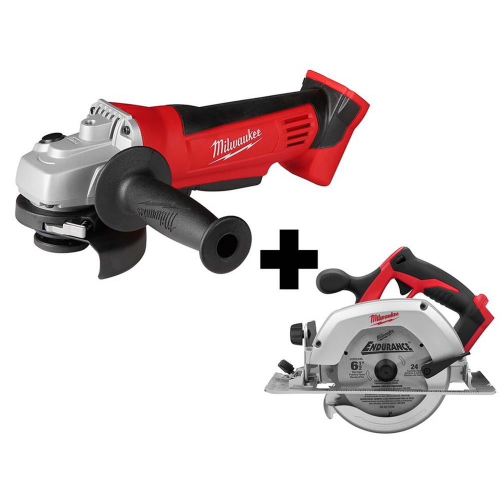 Milwaukee M18 4-1/2 in. Cordless Cut-Off/Grinder With M18 6-1/2 in. Cordless Circular Saw