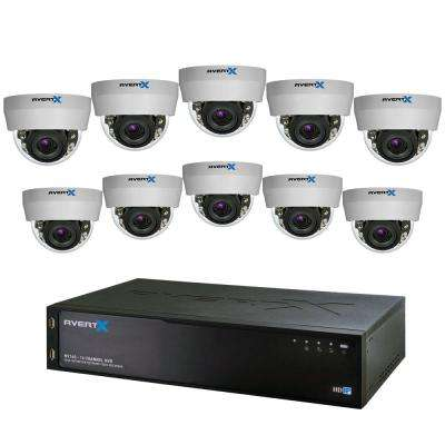 16-Channel HD+ IP Surveillance System with 4TB Storage and (10) 3MP Autofocus Dome Cameras with Night Vision