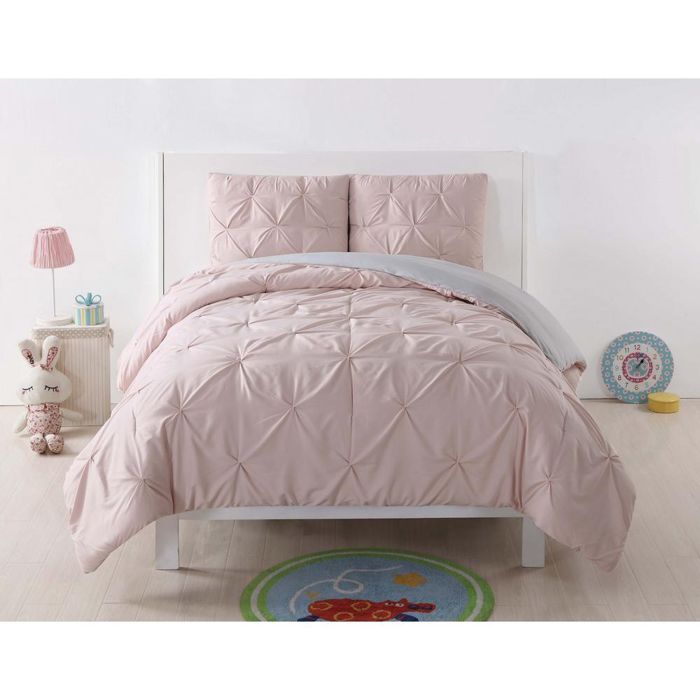 Anytime Pleated Blush Fullqueen Comforter Set