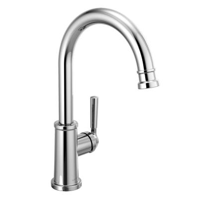 Westchester Single-Handle Standard Kitchen Faucet with Waterfall Spout in Chrome