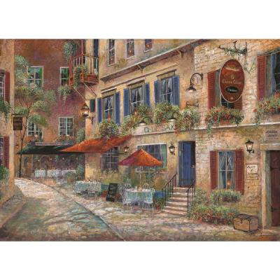 MHF Home Cobblestone Cafe Multi-Colored 18 in. W x 13 in. L Polypropylene Placemat Set (4-Pack)