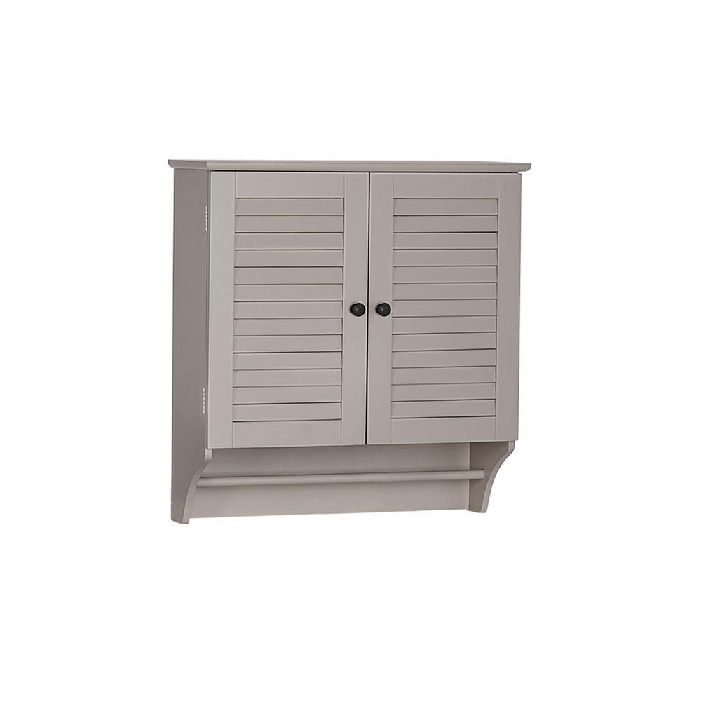 Ellsworth 23.82 in. W 2-Door Wall Cabinet in Taupe
