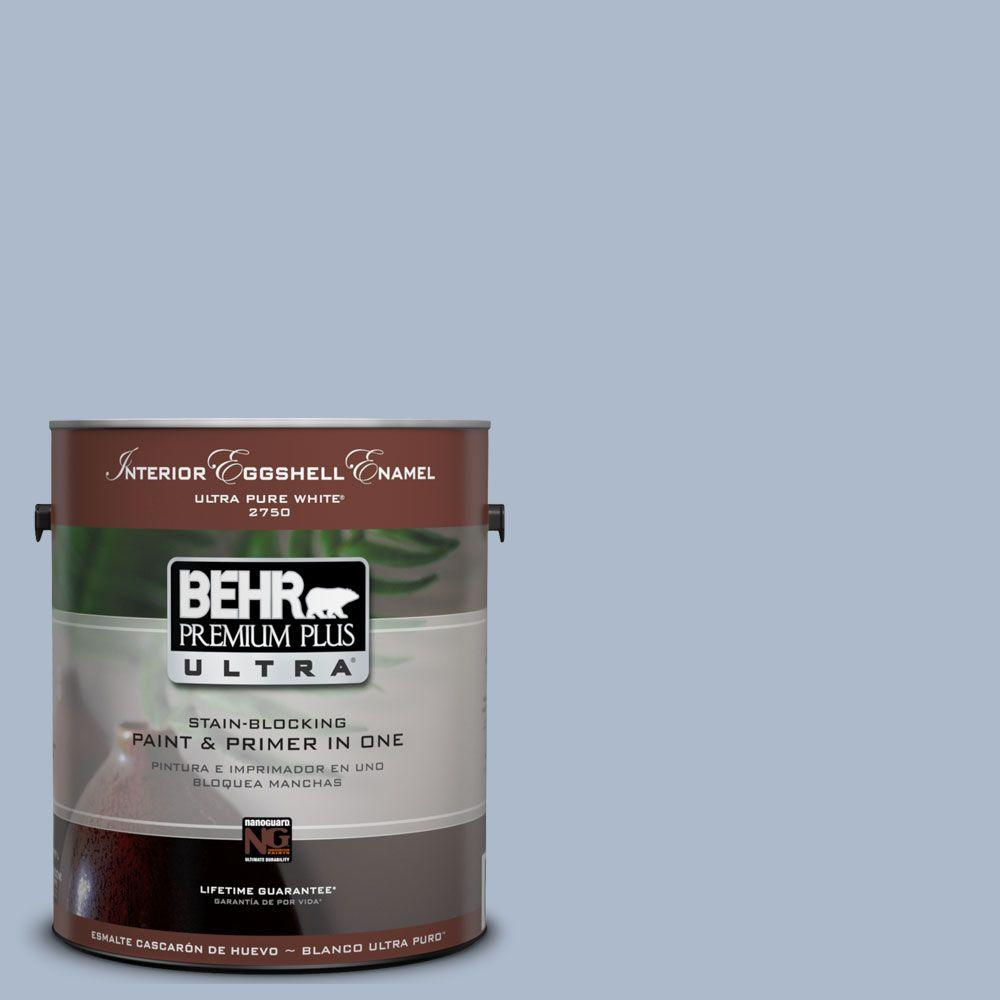 BEHR Premium Plus Ultra 1-Gal. #UL240-15 Simply Blue Interior Eggshell Enamel Paint