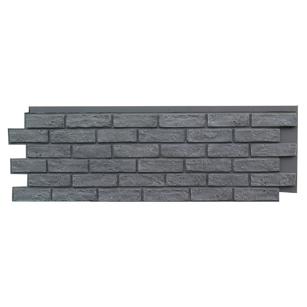 Brick Antique Gray 15.25 in. x 43.5 in. Polyurethane Faux Stone