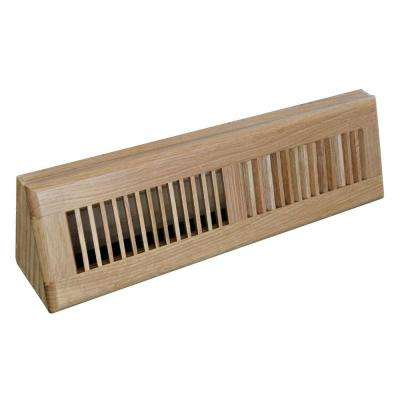 18 in. Wood Oak Baseboard Light Finished Diffuser