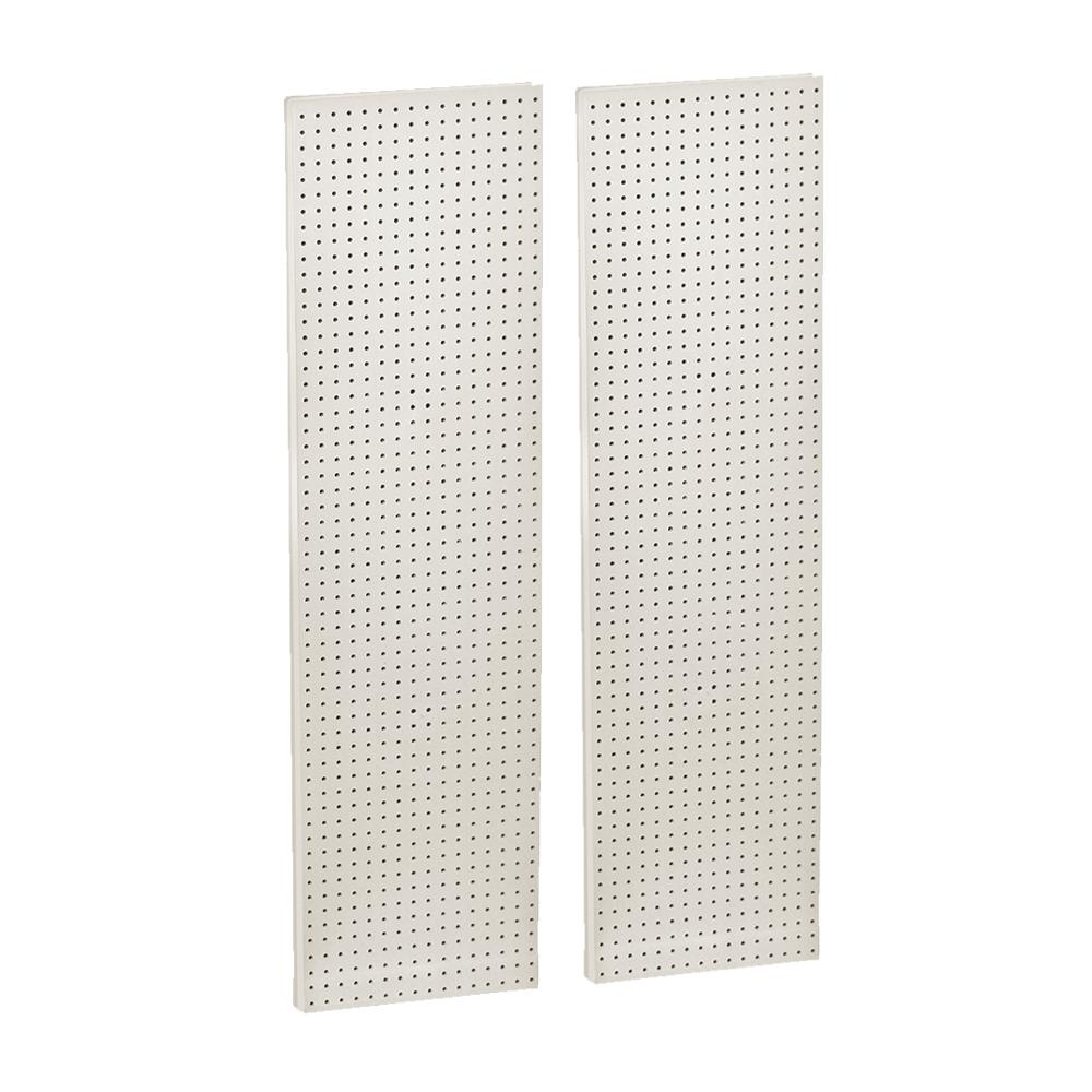 60 in. H x 16 in. W Pegboard White Styrene One Sided Panel (2-Pieces per Box)