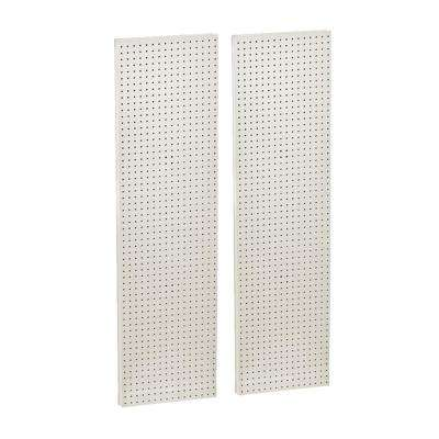 60 in. H x 16 in. W Pegboard White Styrene One Sided Panel