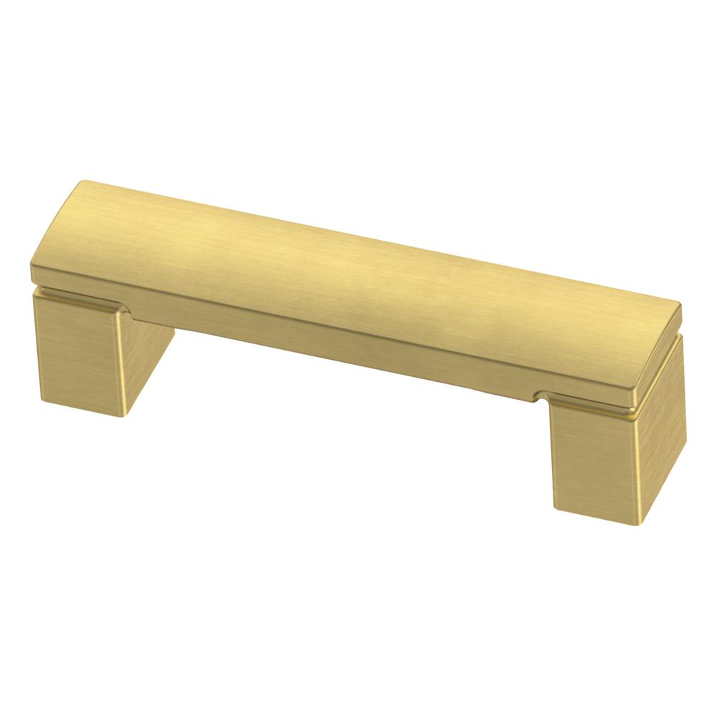 3 in. (76 mm) Brushed Brass Simply Geometric Drawer Pull