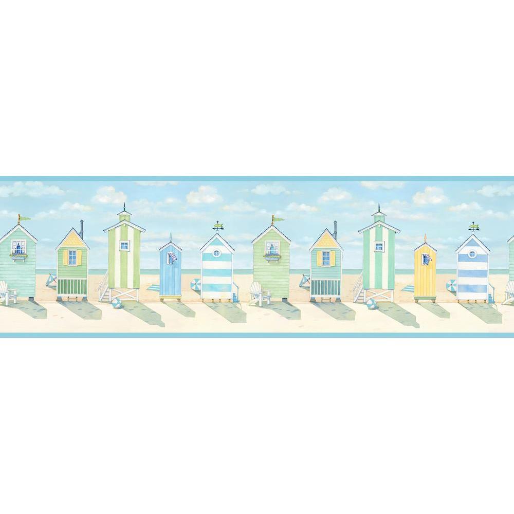 Brighton Beach Cottage Wallpaper Border