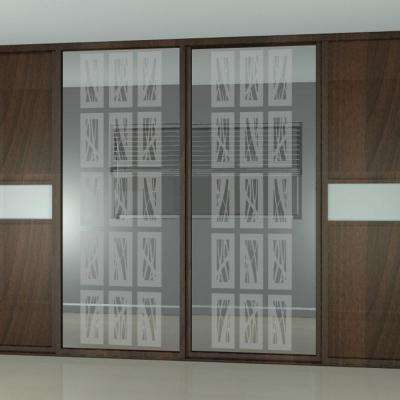 14 in. x 50 in. Rococo Block Decorative Premium Etched Glass Window Film