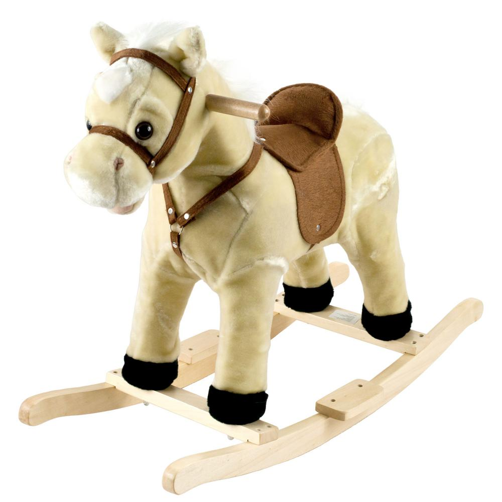 Plush Cream Rocking Lil Henry the Horse