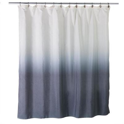 Ombre 72 in. Charcoal Shower Curtain