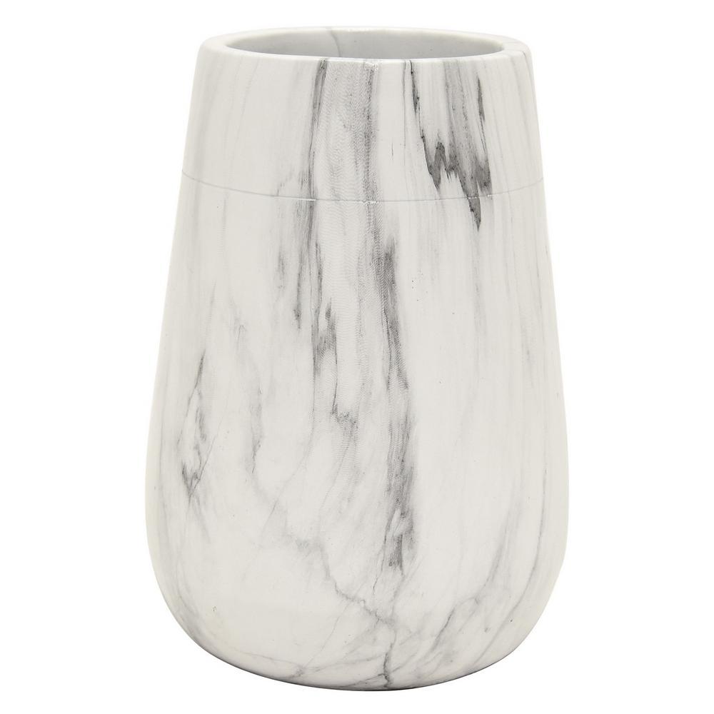 7.5 in. Marble Look Flower Pot