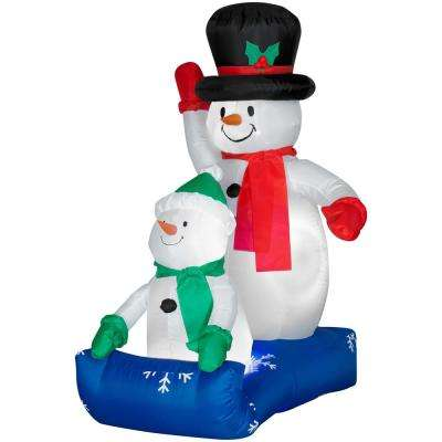 48 ft. Inflatable Father and Son Snowmen