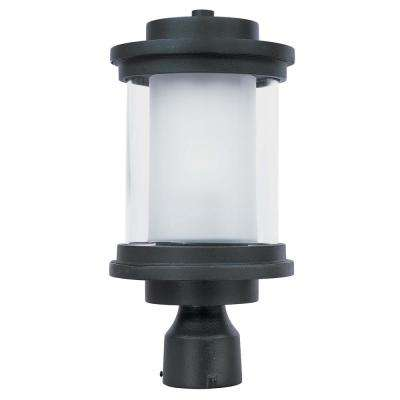 Lighthouse 8 in. Wide 1-Light Outdoor Anthracite Post Light