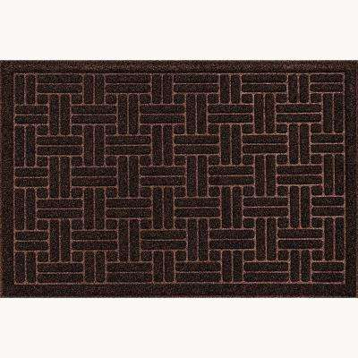 Bricks Brown 3 ft. x 4 ft. Commercial Door Mat