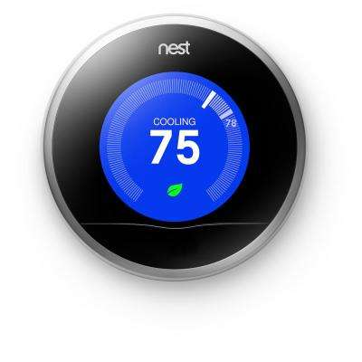 2nd Generation 7-Day Learning Wi-Fi Programable Thermostat, Refurbished