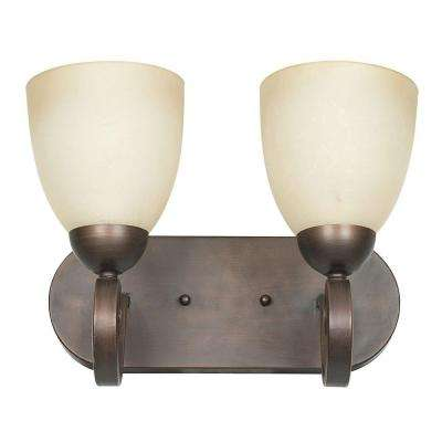 Siebert 2-Light Tique Bronze Bath Vanity Light
