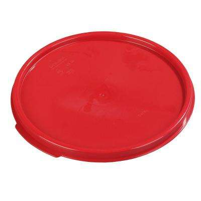 Lid for 6 and 8 ft. Polypropylene Round Storage Container in Red (Case of 12)