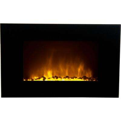 Oslo 1,500-Watt Wall-Mounted Fireplace with LED Color-Changing Flame Effect and Remote Control