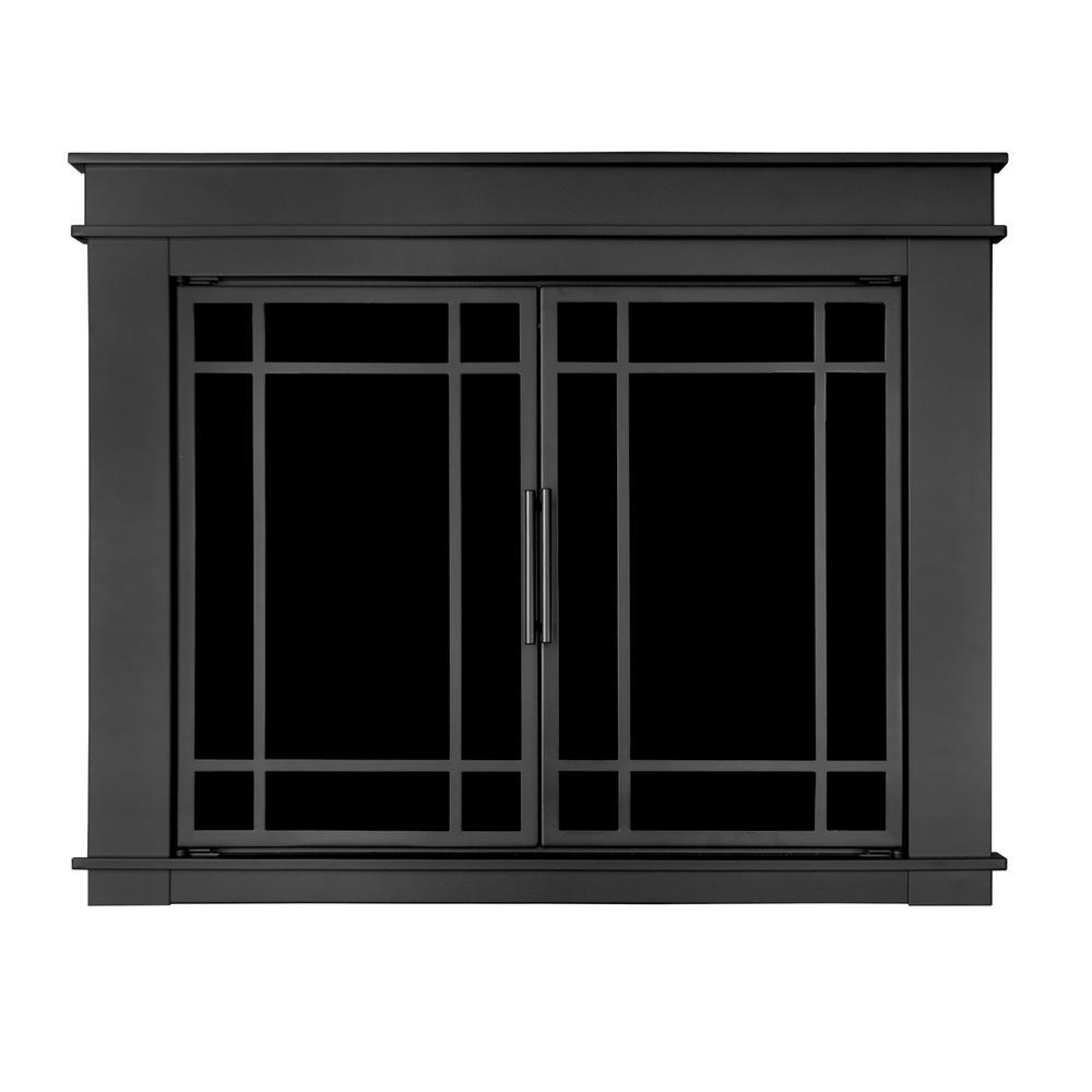 Pleasant Hearth Fillmore Medium Glass Fireplace Doors-FL ...