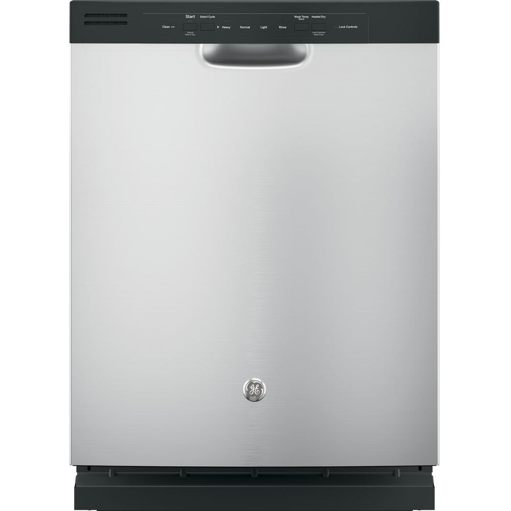 GE Front Control Dishwasher in Stainless Steel (Silver)