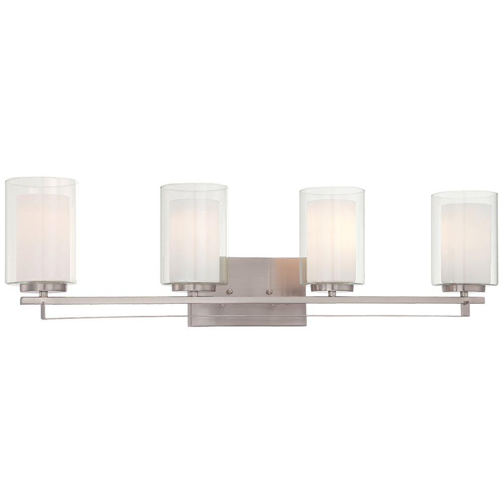 Minka Lavery Parsons Studio 4-Light Brushed Nickel Bath Light-6104-84 - The Home  Depot