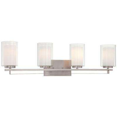 Parsons Studio 4-Light Brushed Nickel Bath Light