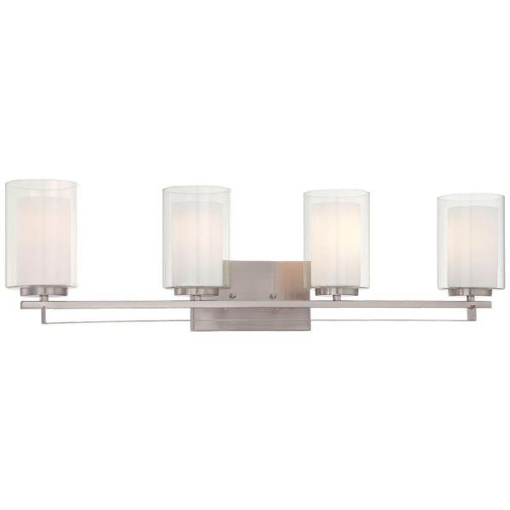 Parsons Studio 4-Light Brushed Nickel Bath Light