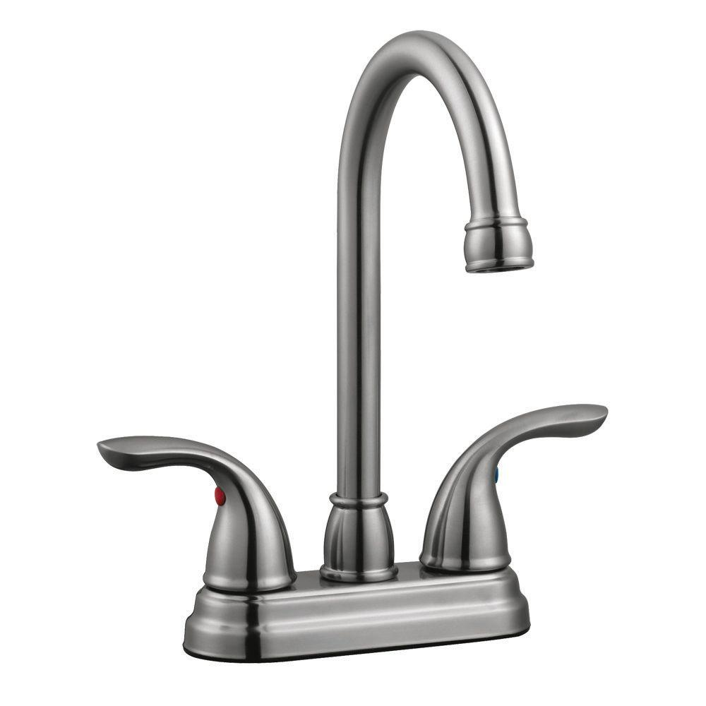 Ashland 2-Handle Bar Faucet in Satin Nickel
