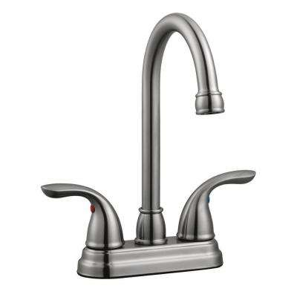 Ashland 2-Handle Bar Faucet in Satin Nickel