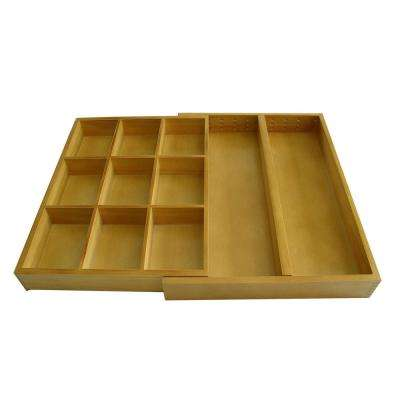 11-1/2 in. W x 2 in. D Natural Wood Odds and Ends Drawer Organizer