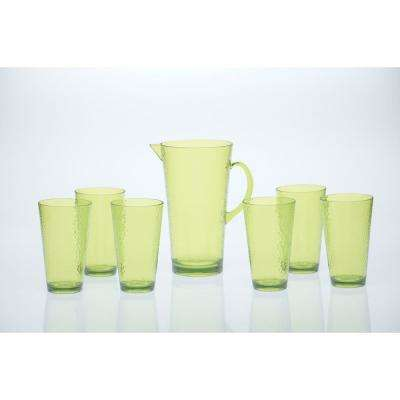 7-Piece Lime Green Drinkware Set