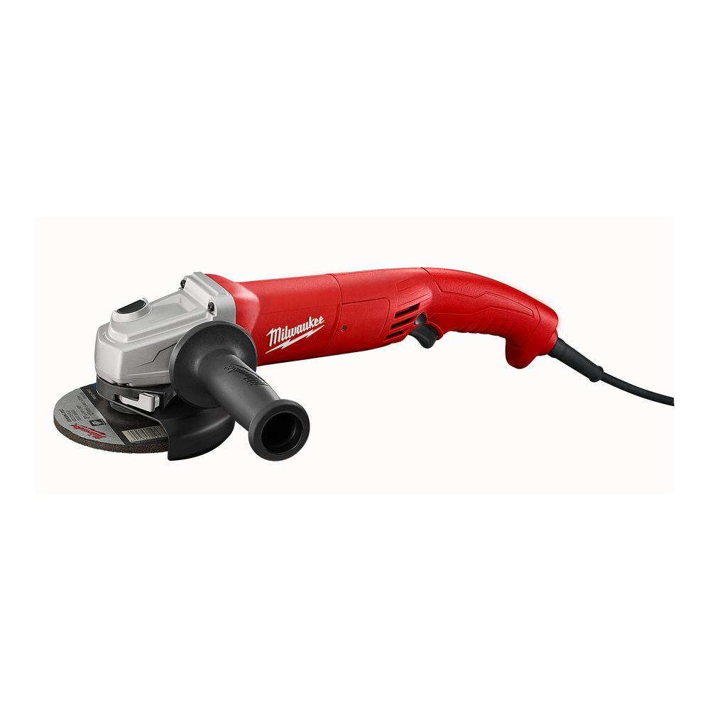 Milwaukee 11 amp 5 in ac dc small angle grinder with for Small dc motor home depot