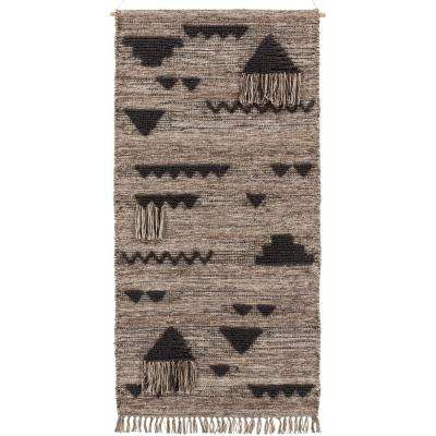 Usera 30 in. x 60 in. Taupe Tapestry