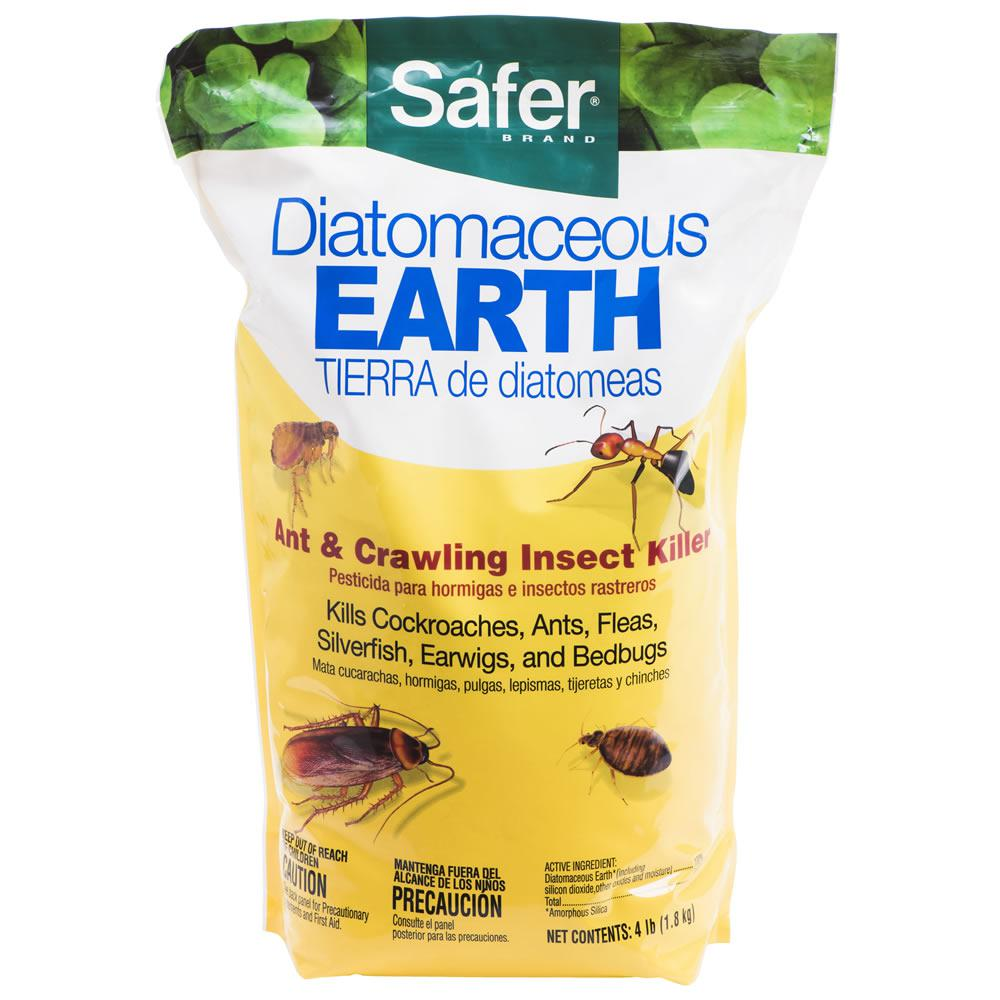 Safer Brand 4 lb. Diatomaceous Earth - Bed Bug, Flea, Ant, Crawling Insect Killer
