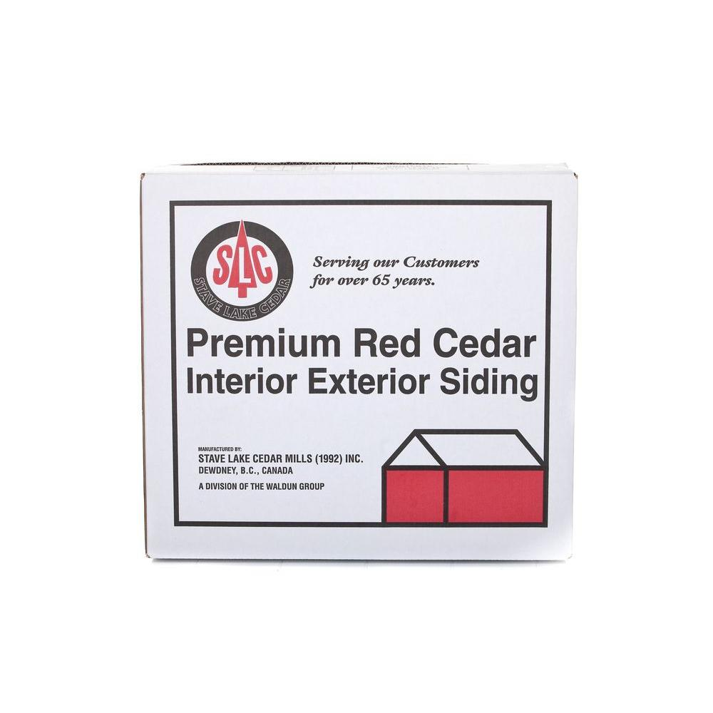 18 in. # 1 Perfection Western Red Cedar Kiln-Dried Shingle (125-Pack ...