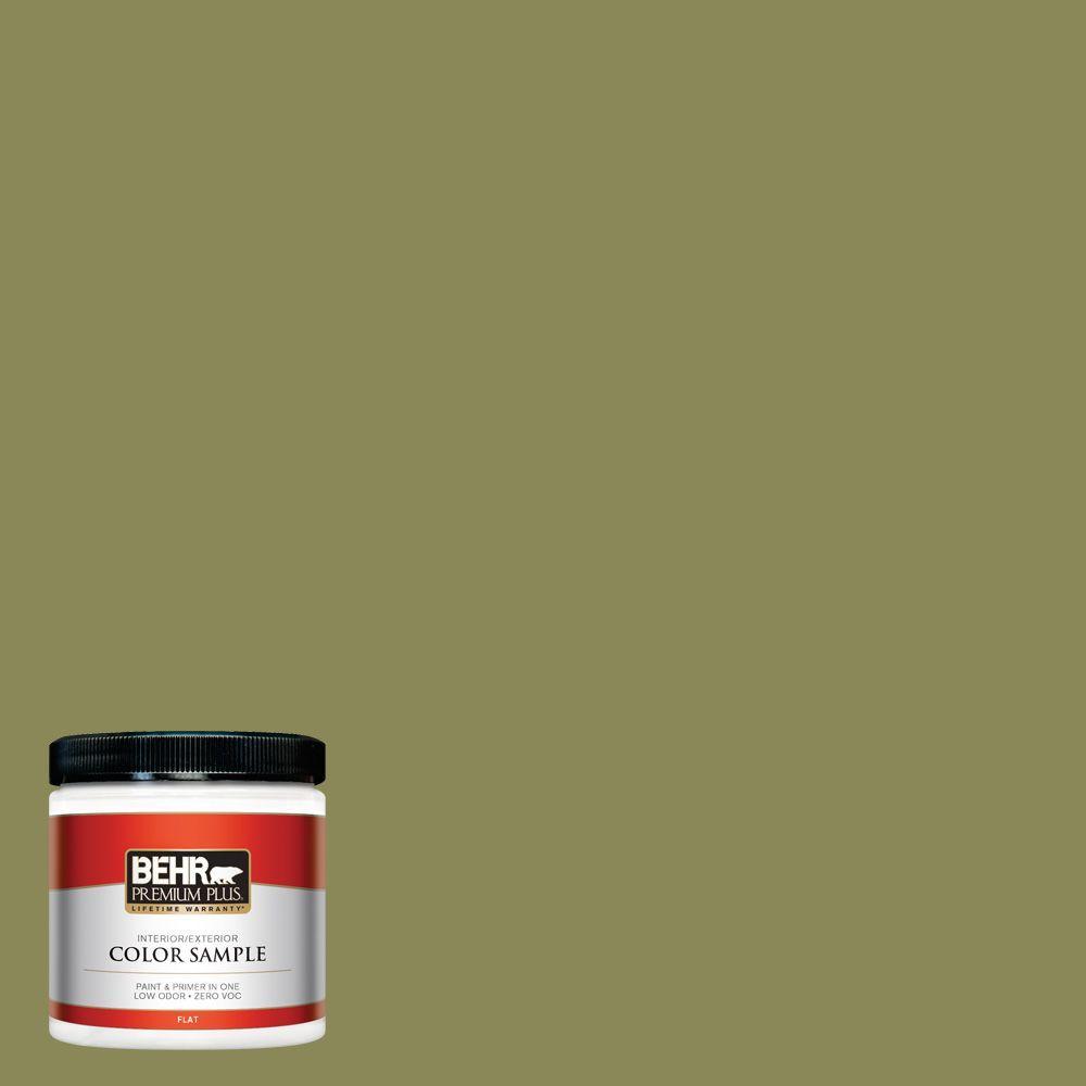 BEHR Premium Plus 8 oz. #S340-6 Fertile Green Interior/Exterior Paint Sample