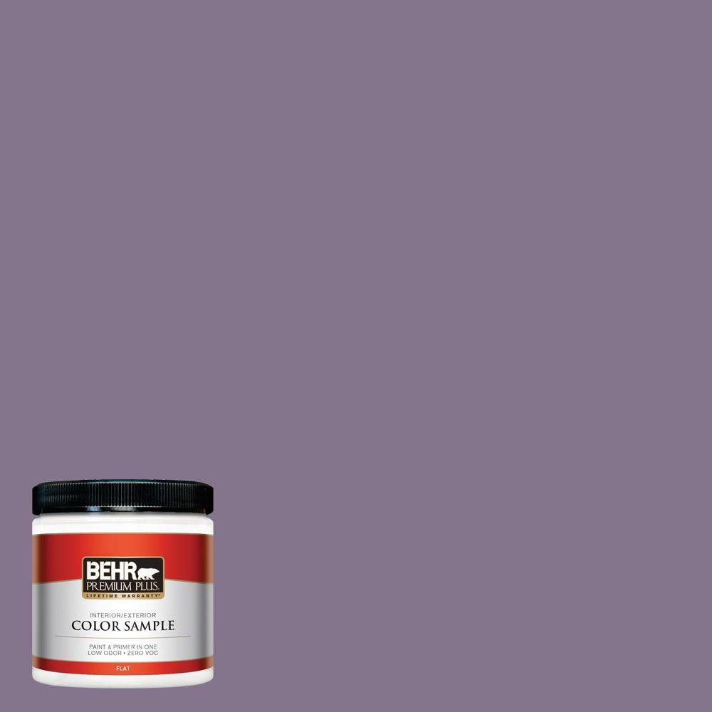BEHR Premium Plus 8 oz. #S100-5 Purple Potion Interior/Exterior Paint Sample