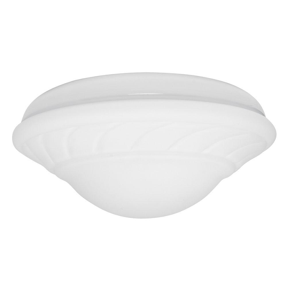 Casablanca 2-Light Snow White Ceiling Fan Center-Stem Wet-Location Fixture with Globe-DISCONTINUED