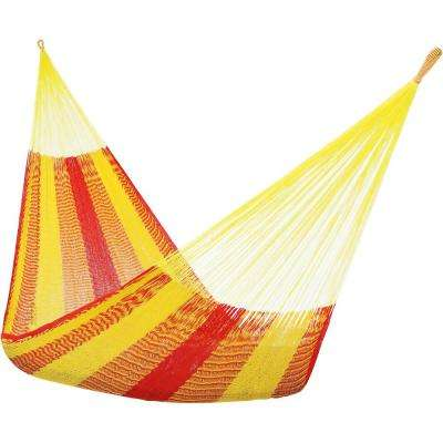 13 ft. Hand Woven Family Mayan Hammock Bed in Tequila