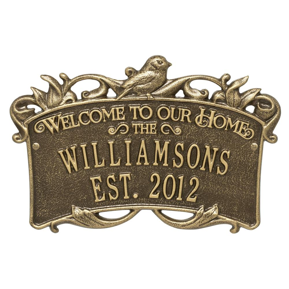 Whitehall Products Songbird Welcome Rectangular Standard 2