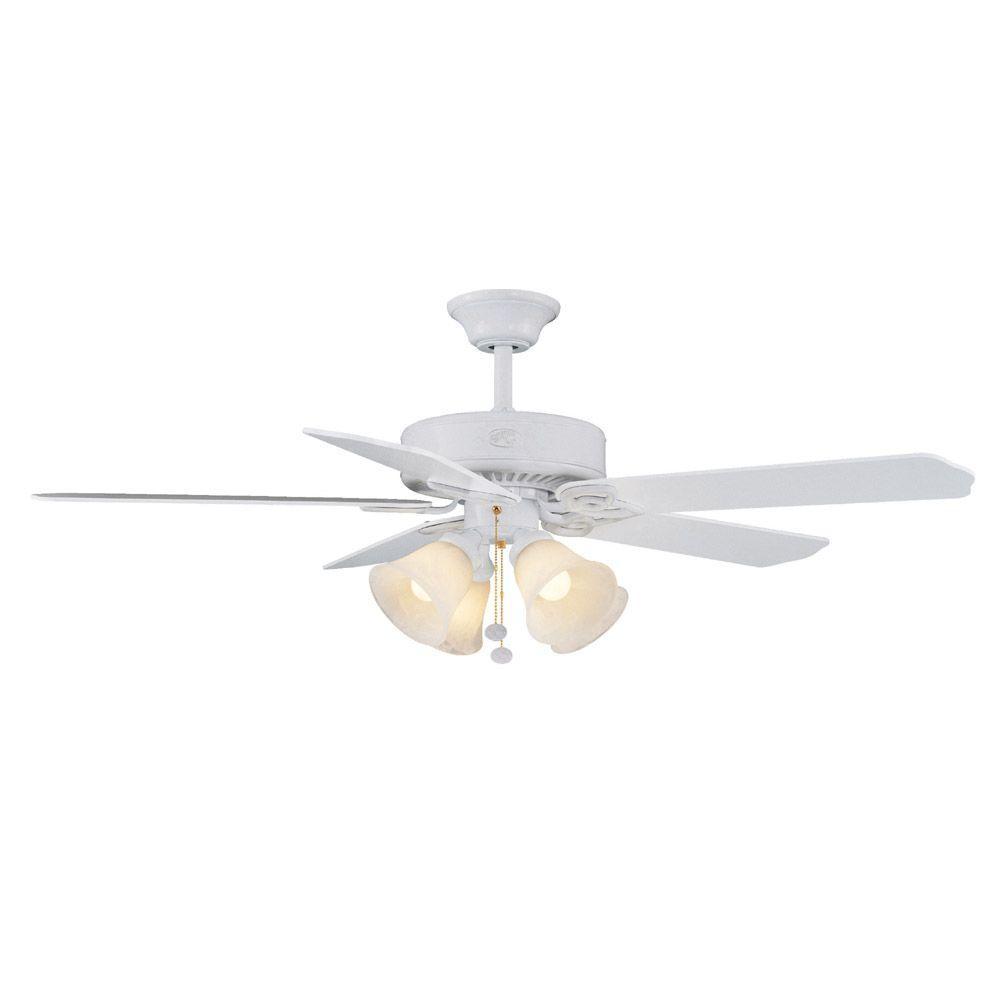Hampton Bay Huntington III 52 in. Indoor White Ceiling Fan-DISCONTINUED