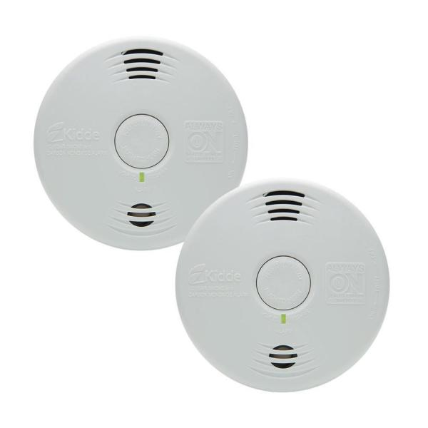 10-Year Worry Free Sealed Battery Smoke and Carbon Monoxide Combination Detector with Voice Alarm (2-Pack)