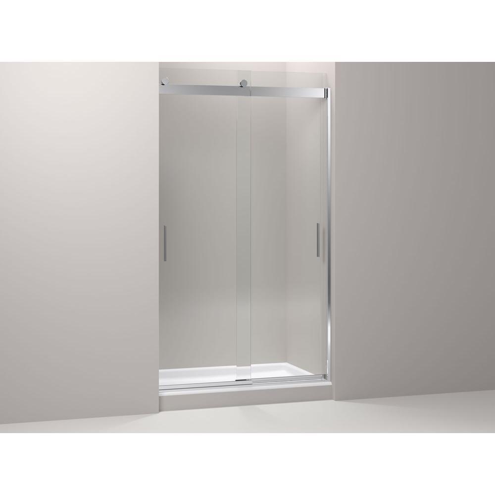 KOHLER Levity 48 in. x 82 in. Semi-Frameless Sliding Shower Door in Bright Polished Silver