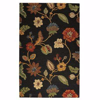 Portico Ebony 5 ft. 3 in. x 8 ft. 3 in. Area Rug